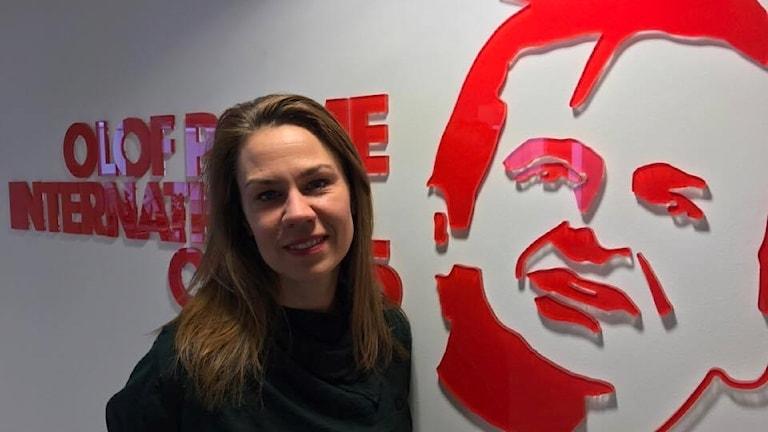Anna Sundström, sekretera giştî ya navenda Olof Palme ya navneteweyî. Wêne: Radyoya Swêdê.