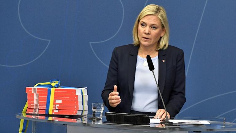 Magdalena Andersson med budget 2018