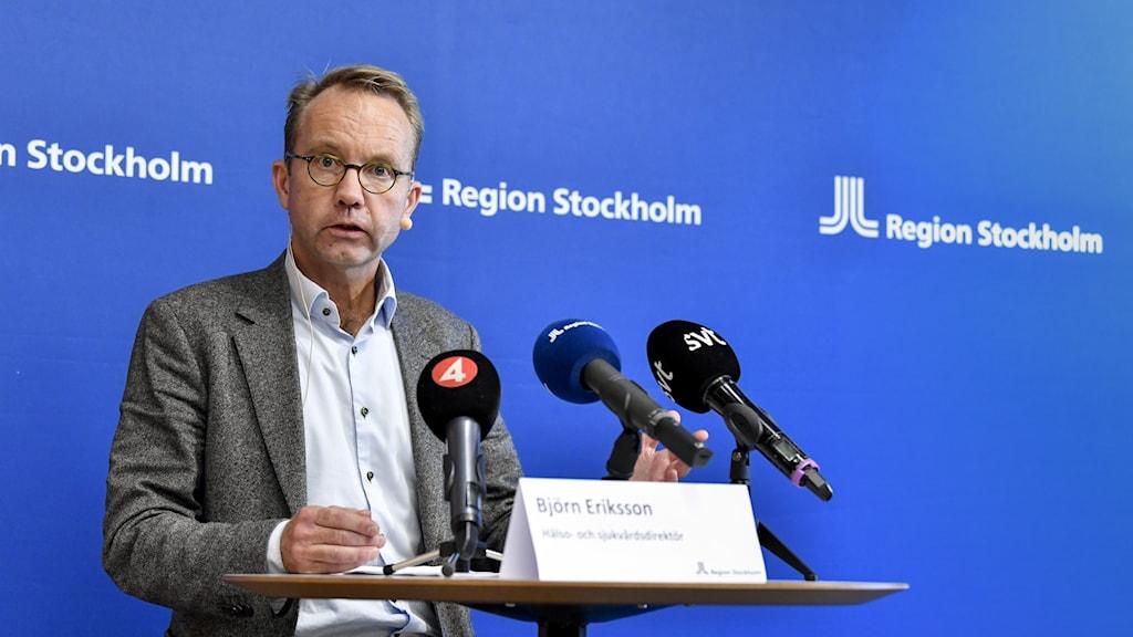 Björn Eriksson  berpirsiyarê tenduristî û lênêrînê li herêma Stockholmê.