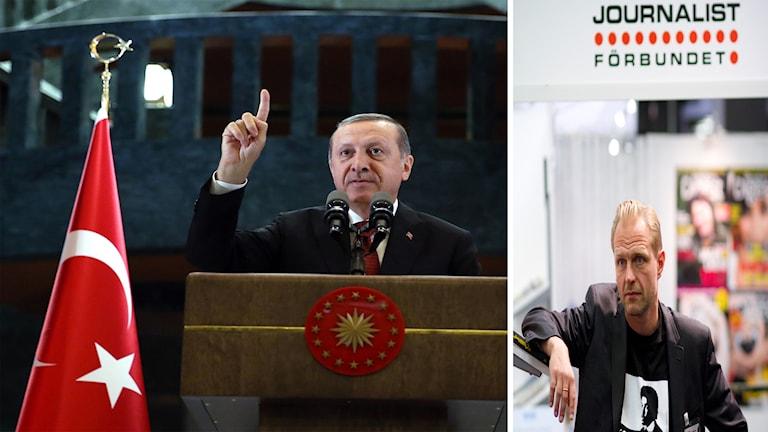 Turkiets president Erdogan och SJFs ordförande Jonas Nordling