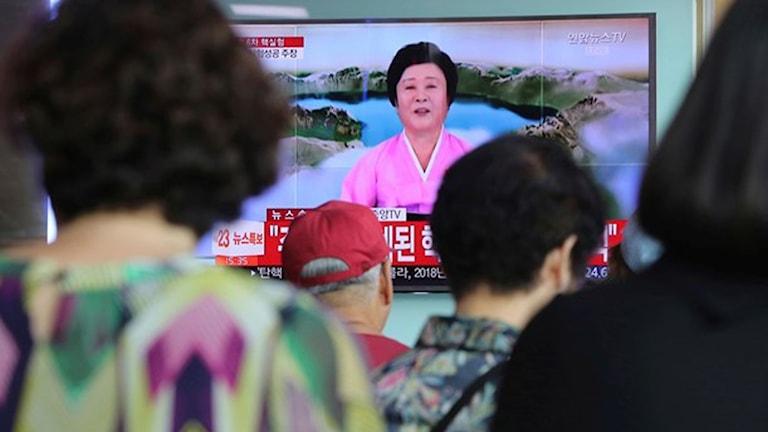 Nyhetspresentatör, Nordkorea, Sydkorea