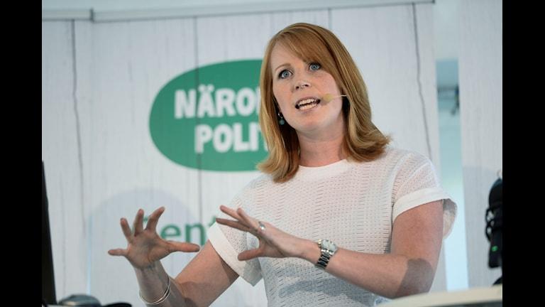 Annie Lööf i Almedalen