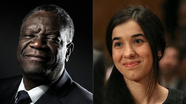 Dennis Mukwege û Nadia Murad.