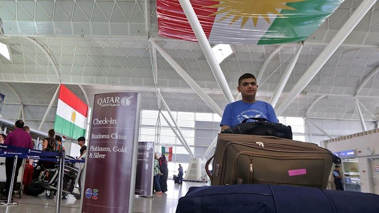 flygplatsen i Erbil, irakiska Kurdistan