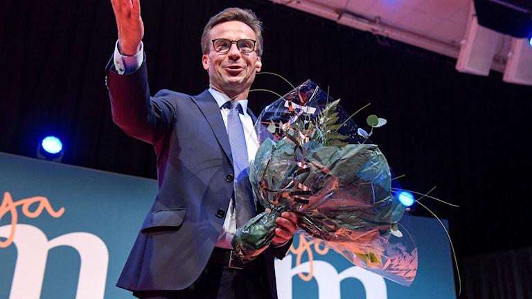 Ulf Kristersson, serokê nû yê partiya Moderatan.