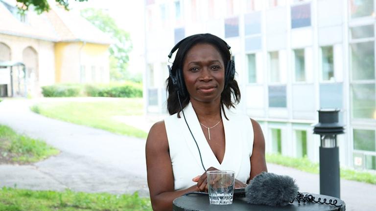 Nyamko Sabuni i P1-morgons partiledarintervju.
