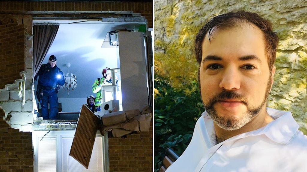 Tino Sanandaji, explosion i Lund, kriminalitet, explosion