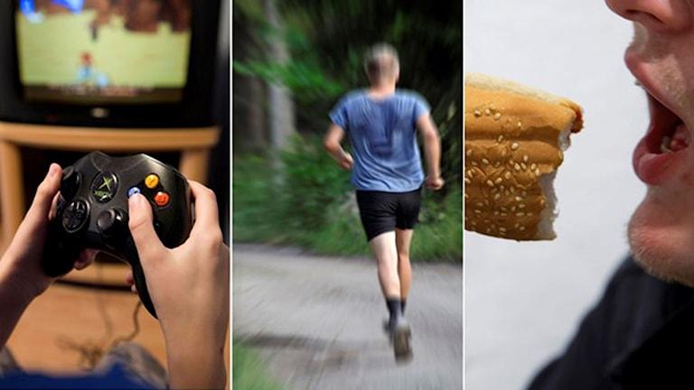 TV-spel, motionerande och hambergerätare