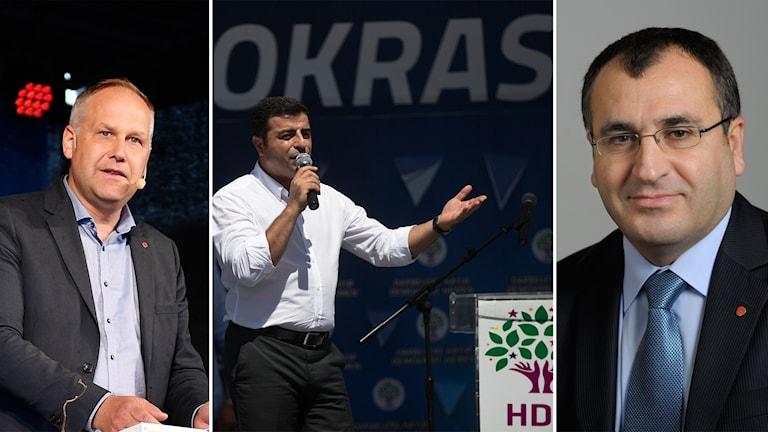 Jonas Sjöstedt, Selahattin Demirtas, Yilmaz Kerimo