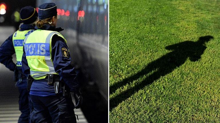 papperslösa och polis