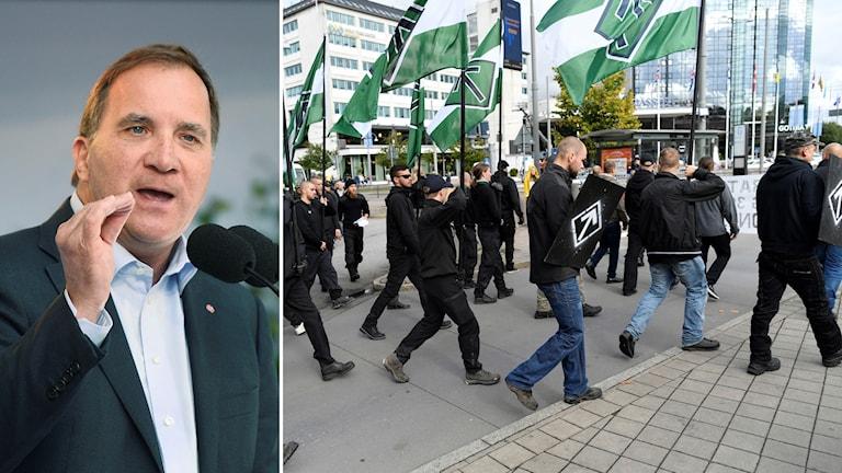 Stefan Löfven och nazist demonstrationen i Göteborg