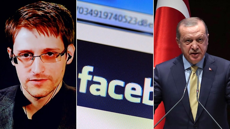Edward Snowden, Facebook, Erdogan