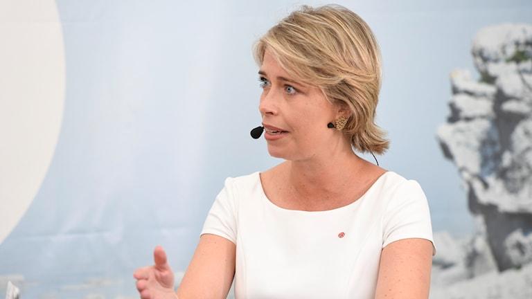 Annika Strandhäll, wezîra sîgortaya sosyal.