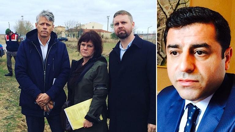Jens Orback, Marie Granlund, Johan Buser,  Selahattin Demirtas