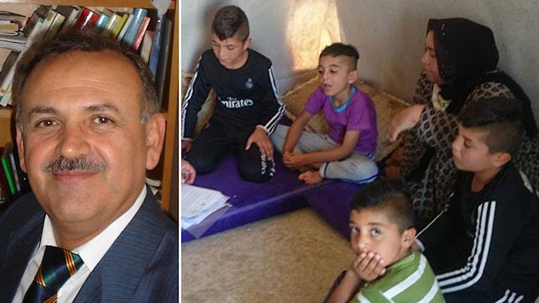 Abdulbaghi Ahmed barn flyktingar