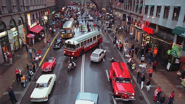Kungsgatan i Stockholm 1967.