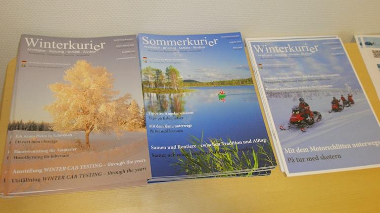 Magasin på tyska och svenska