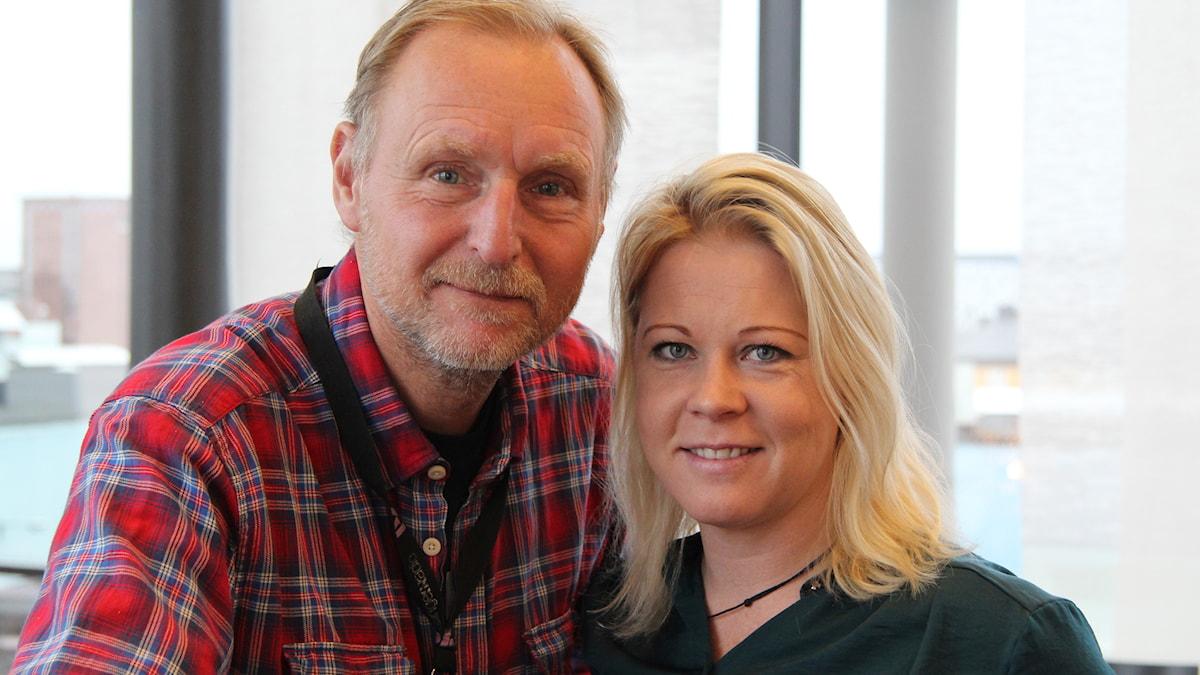 Peter Stenberg och Linn Ohlsson, Göteborg direkt. Foto: Madeleine Blidberg/SR