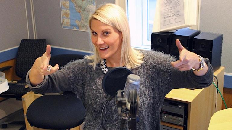 Anna Bergh, programledare för P4 Morgon
