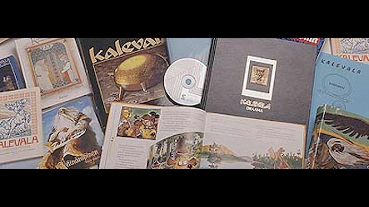 Kalevala-teoksia. Foto: SKS
