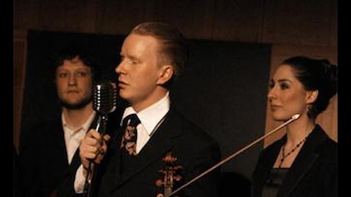 Viktor Littmarck ja Månskensorkestern Foto: Jonas Jörneberg