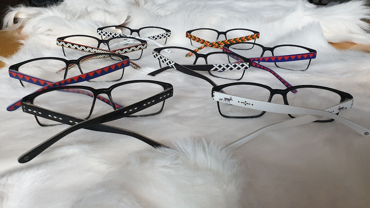 Glasögon med samisk design av Jeanette Kråik