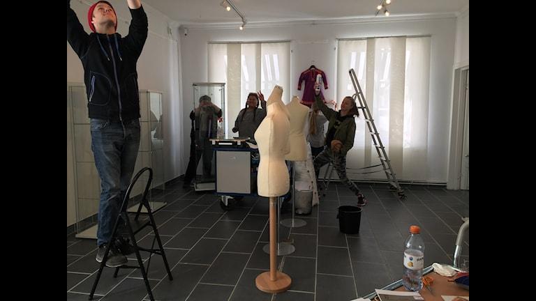 Elever på samiska programmen förbereder utställningen