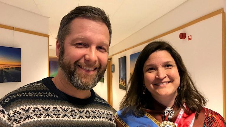 Per Axelsson och Christina Storm Mienna, forskare Umeå universitet.