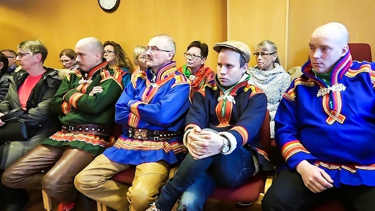 Saarivuoma åhörare vid Senja tingsrätt, Finnsnes.