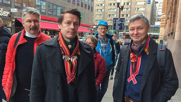Lars Miguel Utsi och Per-Olof Nutti inför mötet med Bucht.