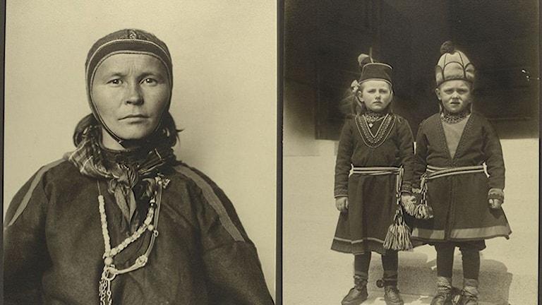 Samiska emigranter fotograferade vid ankomsten till Ellis Island i Amerika någon gång mellan år 1905 och 1914.