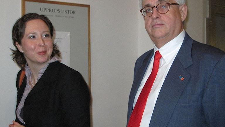 Advokaterna Camilla Wikland och Lars Melin. Foto: Jörgen Heikki, SR Sámi Radio.