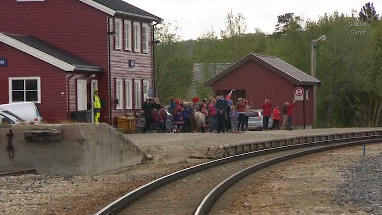 Lönsdals station i Norge Foto: NRK