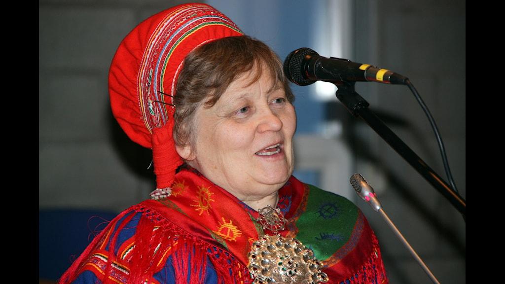 Ellen Inga O Haetta stohpueaiggat Gálásis. Govven: Liv Inger Somby NRK-Sápmi