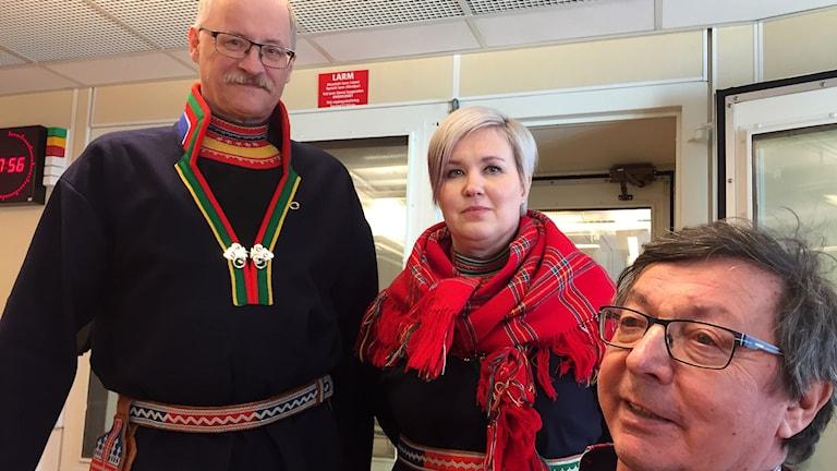 Jan Rannerud, Skogssamerna, Christina Åhrén, Min geaidnu och Lars Wilhelm Svonni, Samiska folkomröstningspartiet i näringgsdebatt.