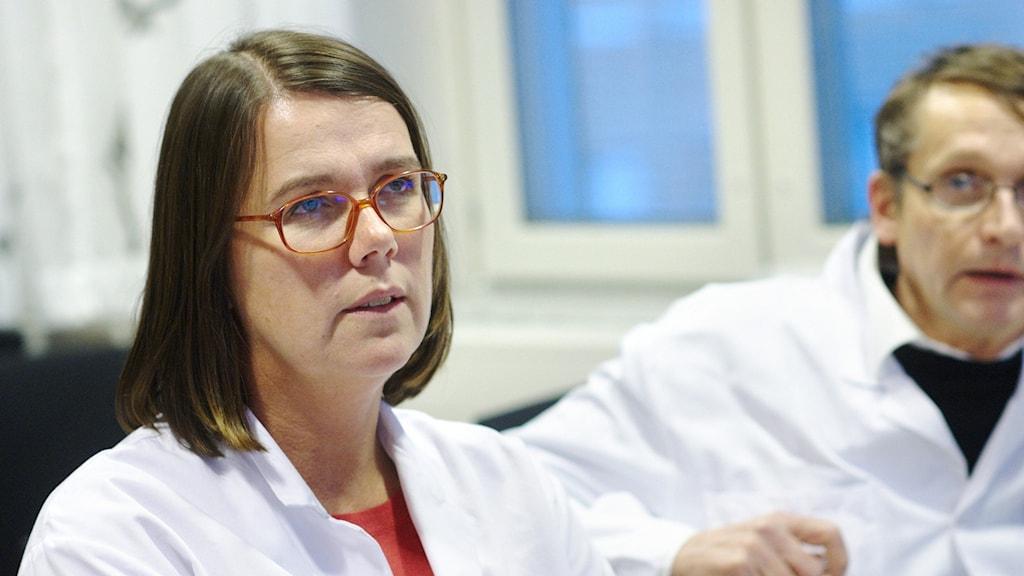 Chefsläkaren Pia Näsvall på Sunderby Sjukhus.