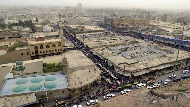 Vy över den kurdiska staden Erbil, en av spelplatserna för Viva World Cup. Foto: Hasan Sarbakhshian/AP
