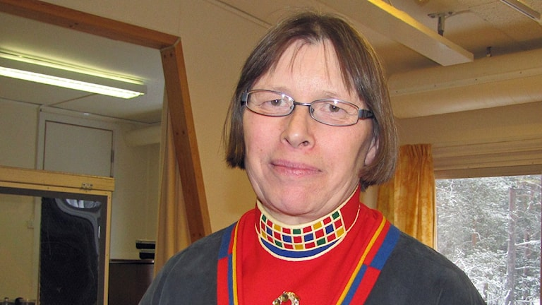 Ingegerd Vannar är arbetsledare på Samiskt språkcentrum. Foto: Jenny Israelsson Skoglund