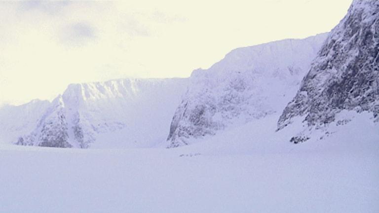 Rabots glaciär i Guobirvággi Kebnekaise massivet. Foto: Per-Josef Idivuoma.