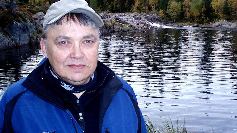 Jan Persson vid Lappforsen. Foto: Jörgen Heikki, SR Sámi Radio.