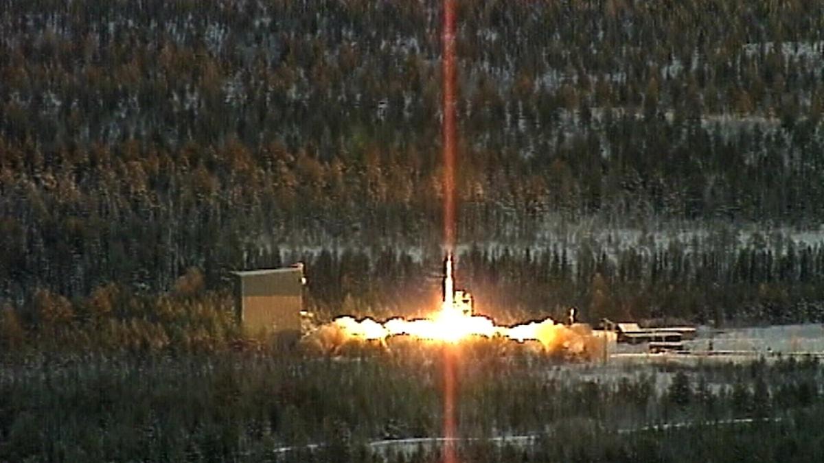 Esrange, raketuppskjutning. Arkivfoto: SVT