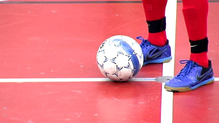 Fotboll. Foto: Nils-Josef Labba/ SVT Sápmi