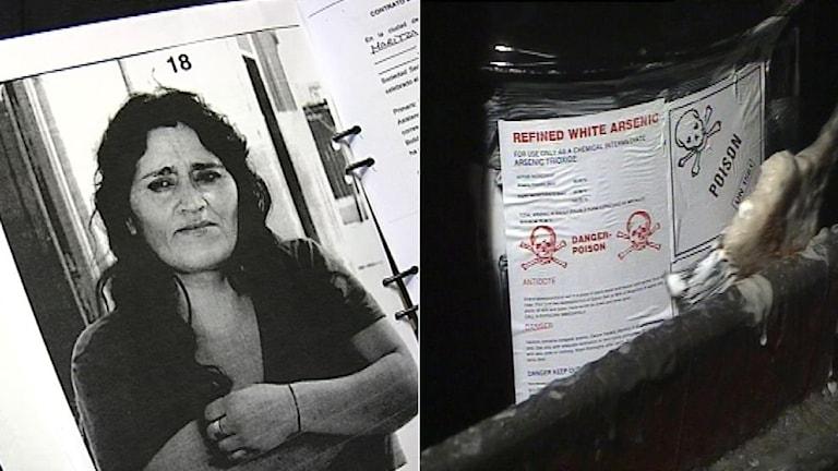 Maritza Calderon Cortez är en av nära 800 skadelidande i Arica i Chile som har stämt Boliden för giftskandalen.