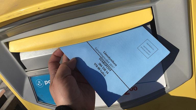 Brevröstning i Sametingsvalet 2017