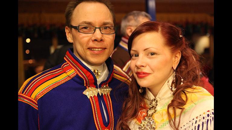 Johan Kitti och Melina Kuhmunen