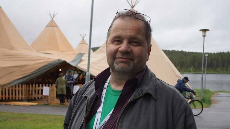 Roger Rimpi. Foto: Anna Sunna/Sveriges Radio Sameradion