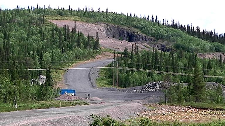 LKAB:s gruva i Mertainen utanför Svappavaara. Foto: Samuel Idivuoma/ Sameradion & SVT Sápmi