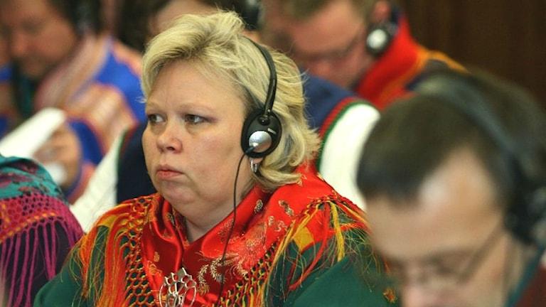 Vibeke Larsen, presidentkandidat för Arbeiderpartiet. Foto: Eilif Aslaksen, NRK Sápmi.