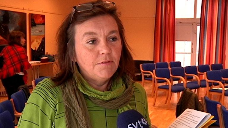 Karin Mannela, ordförnade Sametingets kulturnämnd. Foto: Daniel Raitio/ SVT Sápmi