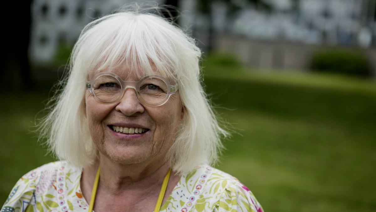 Kläddesignern Gudrun Sjödén. Foto: Christine Olsson/ TT